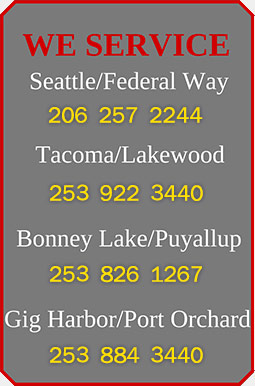 We Service Seattle Federal Way 1-206-257-2244