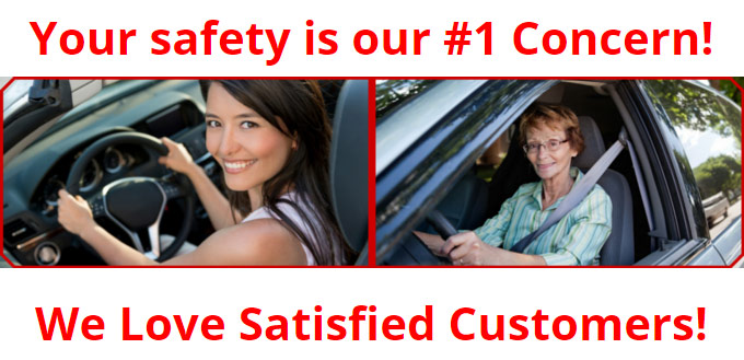 Your safety is our #1 concern! We love satisfied customers!